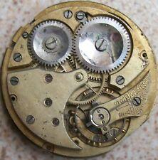 Vintage pocket watch movement 42 mm. in diameter balance Ok.