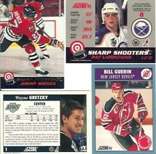 LOT of 5 - 1992-93 SCORE HOCKEY incl. SHARP SHOOTERS