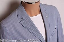 BOSIDENG Blue Striped Summer Cotton Jacket Sports Coat UK40 EU50 NEW + TAG