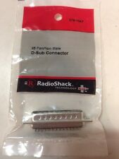 25-Position Male D-Sub Connector #276-1547 By RadioShack