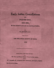 INDIA.  Early Indian Cancellations & Postmarks 1852-84 by W. Renouf w/ illustr.