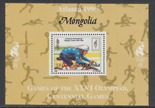 Mongolia 5561 - 1996 OLYMPICS - CYCLING DELUXE SHEET unmounted mint