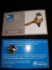 RSPB Pin Badge - Bearded Tit (with LGBTQIA+ Starling back) *rare*