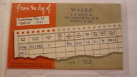 OLD VINTAGE QSL HAM RADIO CARD POSTCARD, ATLANTA GEORGIA 1959