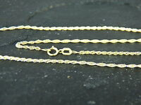 "9ct Yellow Gold Light Prince of Wales Rope Chain - Luxury Quality 18"" / 45cm 375"