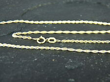 """9ct Yellow Gold Light Prince of Wales Rope Chain - Luxury Quality 18"""" / 45cm 375"""