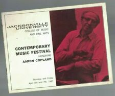 Aaron Copland Contemporary Jazz Festival Program April 1967 Jacksonville