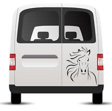 Autoaufkleber Pferd Pferdekopf  Mähne 25cm x 20cm wu099a