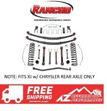 """Rancho 3.5"""" Suspension System for Chrysler Axle 84-01 Jeep Cherokee XJ Black"""