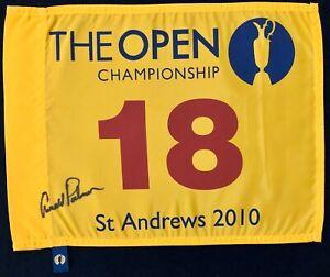 Arnold Palmer Signed St Andrews British Open Championship Golf Flag Autograph US
