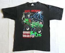VINTAGE T SHIRT 90's Grave Digger 1990's MONSTER TRUCK Hot Rod DENNIS ANDERSO...