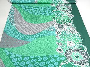 Algodón Rosé verde folklore klaranähta