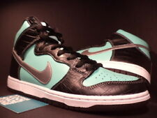 Nike Dunk High Premium SB DIAMOND AQUA GREEN CHROME BLACK WHITE 653599-400 9.5