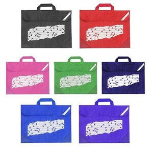 Mapac Duo School Homework Music Bag / Case with Music Note Design RRP £8.99