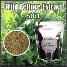 Lactuca virosa-lechuga silvestre Extracto de polvo de 50:1 - desde Tailandia - 10 gramos