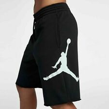 Mens Nike Air Jordan Jumpman Logo Fleece Shorts Black White AQ3115-010
