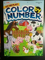KAPPA COLOR BY NUMBER ACTIVITY BOOK FOR KIDS LET ME PLAY! NEW FARM ANIMAL COVER
