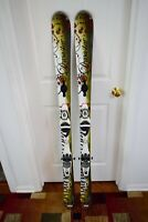 DYNASTAR EXCLUSIVE ACTIVE SKIS SIZE 148 CM WITH FLUID BINDINGS