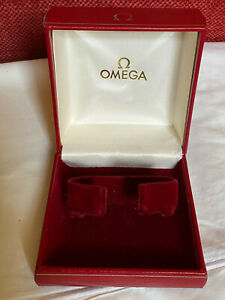 QUALITY VINTAGE 1970's  RED OMEGA WATCH BOX