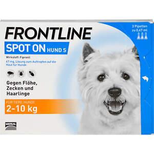 FRONTLINE Spot on Hund S Pipetten gegen Flöhe, Zec..., 3 St. Ampullen 662876