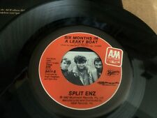 SPLIT ENZ SIX MONTHS IN A LEAKY BOAT  PIC SLEEVE  45 RPM VINYL  7 V