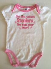 NFL Team Apparel Girls One Piece Bodysuit Pittsburgh Steelers Baby Football 18M