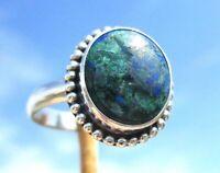 Azurit / Malachit Ring Gr. 18,25 Silber 925