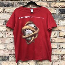2015 Shinedown Threat To Survival World Tour Red Unisex T-Shirt (L)