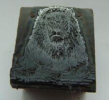 Printing Letterpress Printers Block Lion