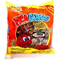 Vero Pica Goma Tamarind GUMMIES (1-Lb 5-oz) 100-pcs bag MEXICAN CANDY