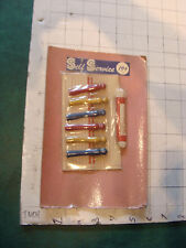 vintage Sealed & Unused, kids WOOEN CLOTHES PINS, CORD, ETC IN PACKAGE japan