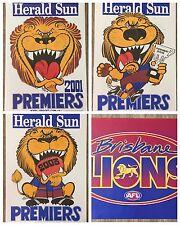 Brisbane Lions 2001, 2002 & 2003 WEG Premiers Posters Plus Bonus Members Poster