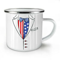 American Flag Suit NEW Enamel Tea Mug 10 oz   Wellcoda
