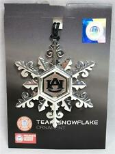 Auburn University Tigers Team Snowflake Ornament Silver Christmas War Eagle B-18