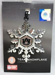 Auburn University Tigers Team Snowflake Ornament Silver Christmas War Eagle B-18