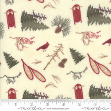 FABRIC Moda ~ FROSTED FLANNELS ~ Holly Taylor (6781 15F) by the 1/2 yard
