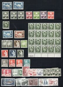 Greenland lot used-Mh last 2 rows MNH