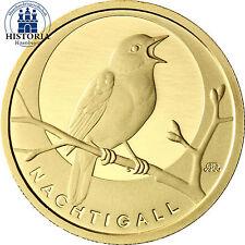 Unzirkulierte Münzen der BRD in Euro-Währung aus Gold