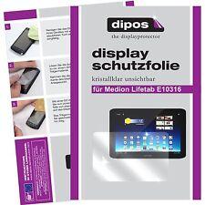 2x Aldi Medion Lifetab E10316 Schutzfolie klar Displayschutzfolie Folie dipos