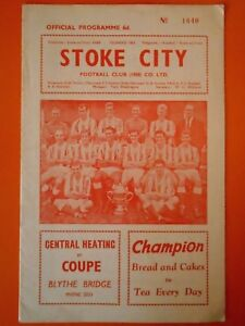 League Division One - Stoke City v Manchester United - 18th April 1964
