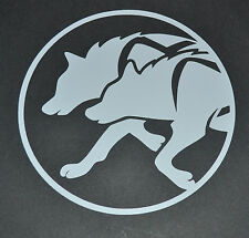 SLED DOG SPIRIT RACING HUSKIES IN RIG HARNESS SILHOUETTE STICKER DECAL HUSKY