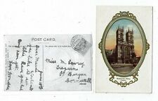 LONDON POST CARD OF WESTMINSTER ABBEY