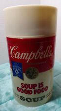 CAMPBELL'S SOUP ~ SOUP IS GOOD FOOD ~ THERMOS ~ WIDEMOUTH ~ 1984 OLYMPICS