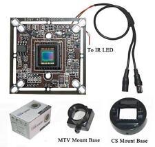 "Sunvision 960TVL 1/3"" HD Sony 960H Board Camera + CS & M12 Base Mounts (B01A)"