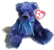 TY Beanie Babies 1993 River Blue Bear Heart Tag In Plastic Case Retired NWT