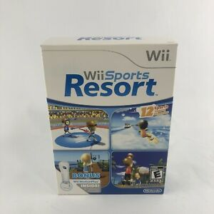 Wii Sports Resort Video Game Wii Motion Plus Adapter & Original Box New Sealed