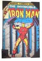 "Iron Man Marvel 19"" x 13"" Wooden Wall Art Silver Buffalo Comic Poster Plaque NWT"
