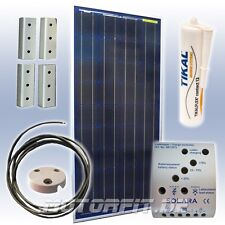 90W (12V) Solar-Profi-Spar-Set / 90 Watt Solaranlage TÜV EEC Made in Germany