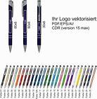 1-500 Metall Kugelschreiber mit Gravur Wunschgravur Name Logo Text Werbung Druck <br/> Stifte mit Beschriftung Hochzeit graviert Werbeartikel