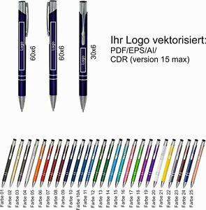 1-500 Metall Kugelschreiber mit Gravur Wunschgravur Name Logo Text Werbung Druck